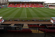 General view of the ground before the EFL Sky Bet League 1 match between Lincoln City and Tranmere Rovers at Sincil Bank, Lincoln, United Kingdom on 14 December 2019.