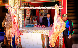 A butchers shop in Taliouine, a little mountain village in the south of Morocco<br /> <br /> (c) Andrew Wilson | Edinburgh Elite media