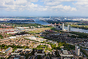 Nederland, Zuid-Holland, Rotterdam, 09-05-2013; Spijkenisse. Oude Maas en Botlek.<br /> Urban expansion, Rotterdam region.<br /> luchtfoto (toeslag op standard tarieven)<br /> aerial photo (additional fee required)<br /> copyright foto/photo Siebe Swart