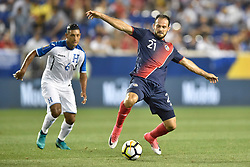 July 7, 2017 - Harrison, New Jersey, U.S - Costa Rica forward MARCO UREÃ'A (21) in action during CONCACAF Gold Cup 2017 at Red Bull Arena in Harrison New Jersey Costa Rica defeats Honduras 1 to 0. (Credit Image: © Brooks Von Arx via ZUMA Wire)