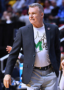 SAN DIEGO, CA - MARCH 16:  Head coach Dan D'Antoni of the Marshall Thundering Herd looks on during a first round game of the Men's NCAA Basketball Tournament against the Wichita State Shockers at Viejas Arena in San Diego, California. Marshall won 81-75.  (Photo by Sam Wasson)