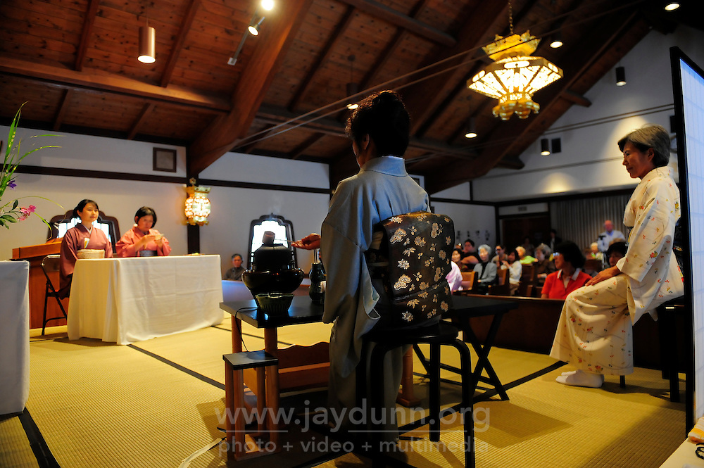The rituals of the tea ceremony are followed to the letter during the 2012 Obon Festival at the Buddhist Temple of Salinas.
