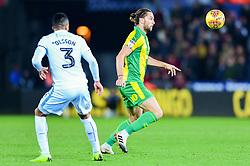 Jay Rodriguez of West Bromwich Albion is marked by Martin Olsson of Swansea City - Mandatory by-line: Ryan Hiscott/JMP - 28/11/2018 - FOOTBALL - Liberty Stadium - Swansea, England - Swansea City v West Bromwich Albion - Sky Bet Championship