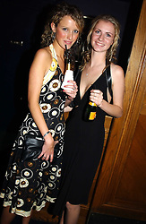 Left to right, MISS KATE MELHUISH and MISS CHLOE DELEVINGNE at a party hosted by Tatler magazine to celebrate the publication of the 2004 Little Black Book held at Tramp, 38 Jermyn Street, London SW1 on 10th November 2004.<br />