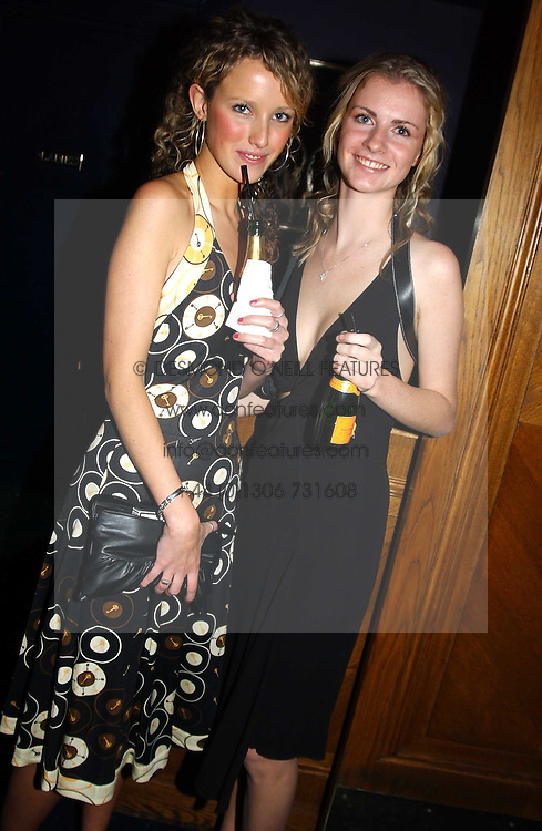 Left to right, MISS KATE MELHUISH and MISS CHLOE DELEVINGNE at a party hosted by Tatler magazine to celebrate the publication of the 2004 Little Black Book held at Tramp, 38 Jermyn Street, London SW1 on 10th November 2004.<br /><br />NON EXCLUSIVE - WORLD RIGHTS