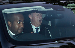 "© Licensed to London News Pictures. 18/12/2017. London, UK. First Secretary of State DAMIAN GREEN seen being driven from his London home on December 18, 2017. The findings of an inquiry in to the conduct of MP Damian Green are expected to be released before parliament breaks for Christmas later this week. Former police officers alleged that ""extreme"" pornography was found on Damian Green's work computer during a police raid in 2018. Green was already under investigation for allegedly propositioning former Tory activist, Kate Maltby. Photo credit: Ben Cawthra/LNP"