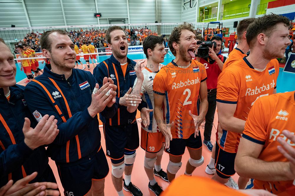 09-06-2019 NED: Golden League Netherlands - Spain, Koog aan de Zaan<br /> Fourth match poule B - The Dutch beat Spain again in five sets in the European Golden League / Wouter Ter Maat, Wessel Keemink