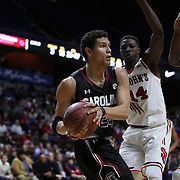 Michael Carrera, South Carolina, in action during the St. John's vs South Carolina Men's College Basketball game in the Hall of Fame Shootout Tournament at Mohegan Sun Arena, Uncasville, Connecticut, USA. 22nd December 2015. Photo Tim Clayton