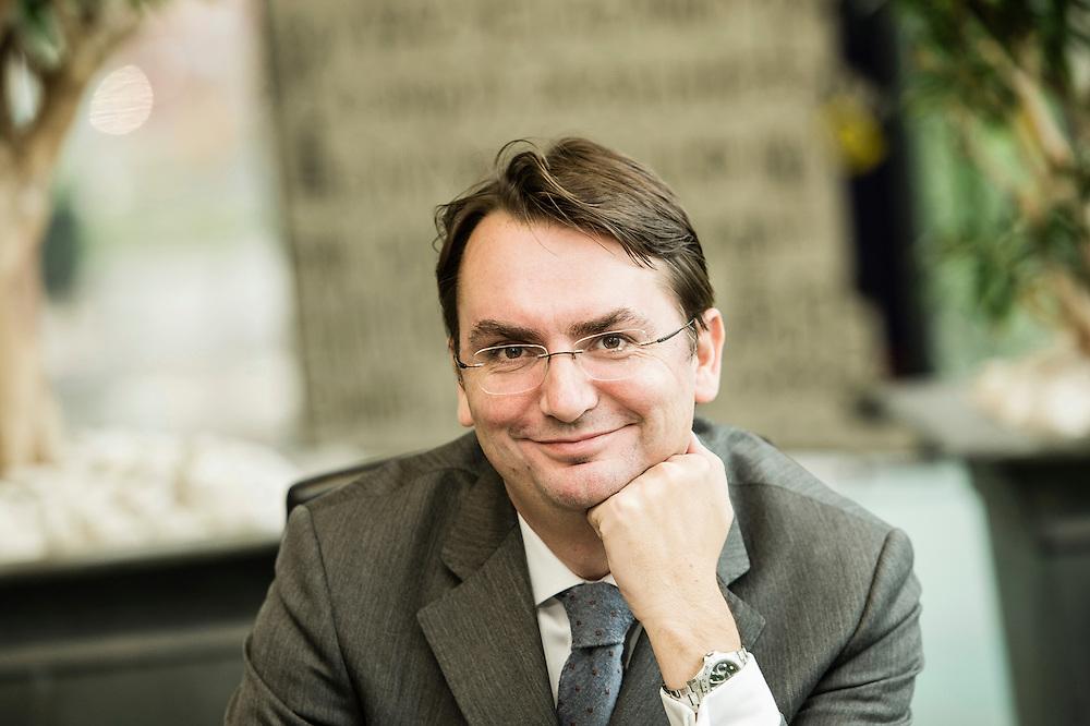 Brussels, Belgium 7 November 2013<br /> Portrait of Frederic Vandenberghe.<br /> Photo: Ezequiel Scagnetti