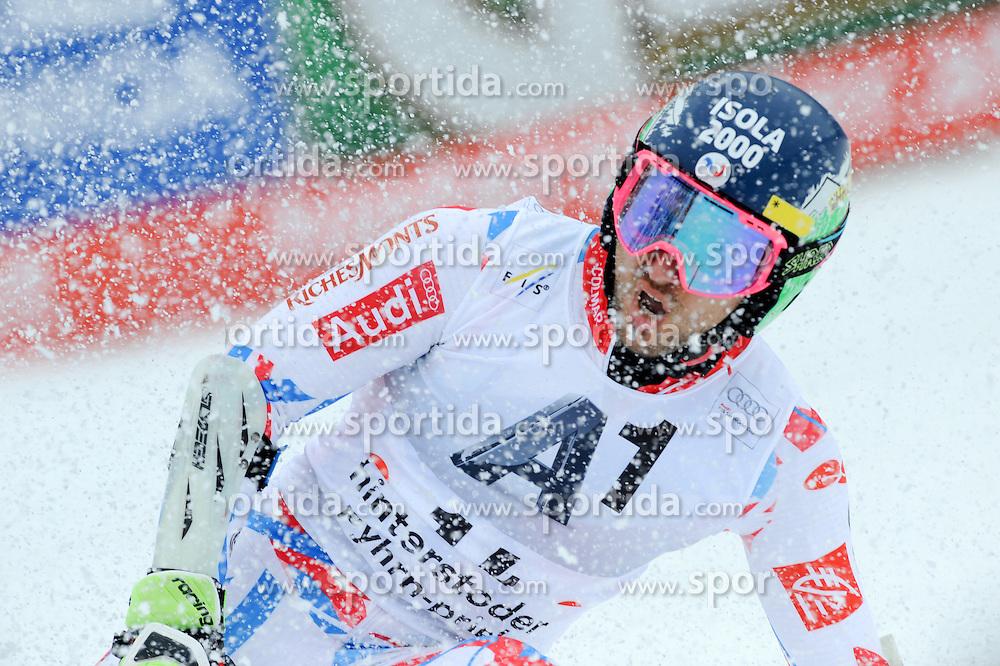 28.02.2016, Hannes Trinkl Rennstrecke, Hinterstoder, AUT, FIS Weltcup Ski Alpin, Hinterstoder, Riesenslalom, Herren, 2. Lauf, im Bild Mathieu Faivre (FRA) // Mathieu Faivre of France reacts after his 2nd run of men's Giant Slalom of Hinterstoder FIS Ski Alpine World Cup at the Hannes Trinkl Rennstrecke in Hinterstoder, Austria on 2016/02/28. EXPA Pictures © 2016, PhotoCredit: EXPA/ Erich Spiess