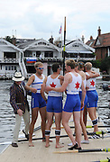 Henley, Great Britain.  Henley Royal Regatta. Berliner Ruderclub and Olympische Ruder Club Rostock, Germany, GER, M8+, celebrate, after winning, the Ladies' Challenge Plate. River Thames,  Henley Reach.  Royal Regatta. River Thames Henley Reach. Sunday  12:09:57  03/07/2011  [Mandatory Credit/Intersport Images] . HRR