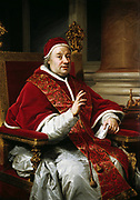 Portrait of Pope Clement XIII by Anton Raphael Mengs 1759. Pope Clement XIII (1693 – 1769 in Rome), Pope from 16 July 1758 to 2 February 1769