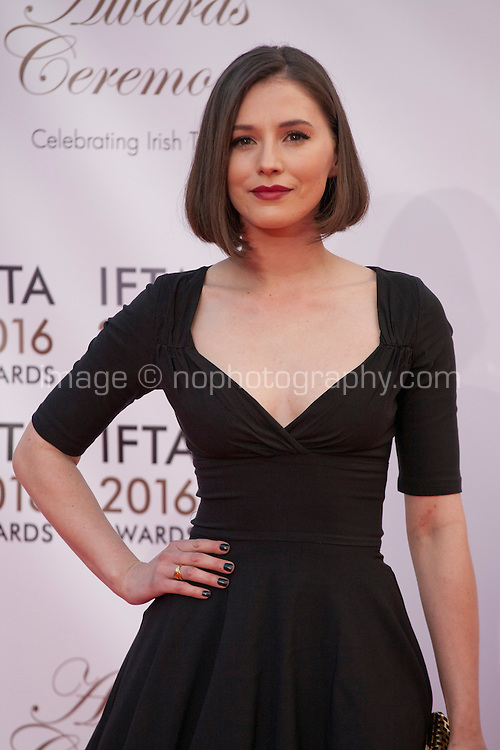Actress Charlie Murphy at the IFTA Film & Drama Awards (The Irish Film & Television Academy) at the Mansion House in Dublin, Ireland, Saturday 9th April 2016. Photographer: Doreen Kennedy