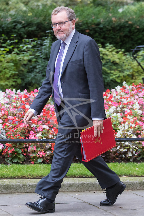 Downing Street, London, September 9th 2016.  Scotland Secretary David Mundell arrives at Downing street for the weekly cabinet meeting following the Parliamentary summer recess.