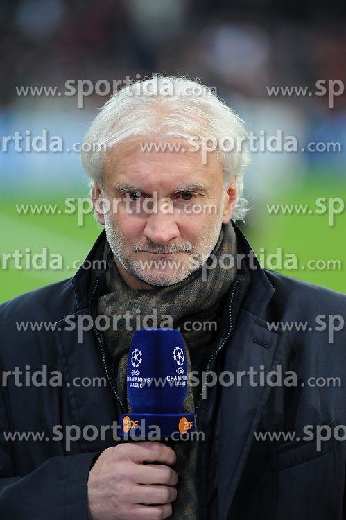27.11.2013, BayArena, Leverkusen, GER, UEFA CL, Bayer Leverkusen vs Manchester United, Gruppe A, im Bild Sportdirektor Rudi Voeller ( Bayer 04 Leverkusen / Einzelmotiv / angeschnittenes Einzelmotiv ) // during UEFA Champions League group A match between Bayer Leverkusen vs Manchester United at the BayArena in Leverkusen, Germany on 2013/11/28. EXPA Pictures &copy; 2013, PhotoCredit: EXPA/ Eibner-Pressefoto/ Thienel<br /> <br /> *****ATTENTION - OUT of GER*****