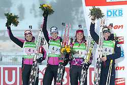 11.12.2011, Biathlonzentrum, Hochfilzen, AUT, E.ON IBU Weltcup, 2. Biathlon, Hochfilzen, Staffel Damen, im Bild Zweiter Platz an Brunet Marie Laure (Team FRA) Bescond Anais (Team FRA) Boilley Sophie (Team FRA) Dorin Habert Marie (Team FRA) // during Team Relay  E.ON IBU World Cup 2th Biathlon, Hochfilzen, Austria on 2011/12/11. EXPA Pictures © 2011. EXPA Pictures © 2011, PhotoCredit: EXPA/ nph/ Straubmeier..***** ATTENTION - OUT OF GER, CRO *****