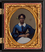 Stunning portraits from American Civil War  bright back to life in colour<br /> <br /> Unidentified African American woman - 1861<br /> ©Frédéric DurIiez/Exclusivepix Media