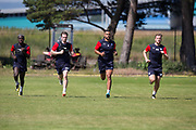Elton Ngwatala, Craig Wighton, |SC\ and Dan Jefferies - Dundee pre-season training on Thursday 28th June at University Grounds, Riverside, Dundee, <br /> <br /> <br />  - &copy; David Young - www.davidyoungphoto.co.uk - email: davidyoungphoto@gmail.com
