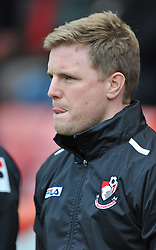 Bournemouth Manager, Eddie Howe - Photo mandatory by-line: Alex James/JMP - Tel: Mobile: 07966 386802 18/01/2014 - SPORT - FOOTBALL - Goldsands Stadium - Bournemouth - Bournemouth v Watford - Sky Bet Championship