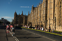 Riders pass Houses of Parliament  during the Prudential RideLondon-Surrey Classic , Sunday 2nd August 2015. <br /> <br /> Prudential RideLondon is the world's greatest festival of cycling, involving 95,000+ cyclists – from Olympic champions to a free family fun ride - riding in five events over closed roads in London and Surrey over the weekend of 1st and 2nd August 2015. <br /> <br /> Photo: Jon Buckle for Prudential RideLondon<br /> <br /> See www.PrudentialRideLondon.co.uk for more.<br /> <br /> For further information: Penny Dain 07799 170433<br /> pennyd@ridelondon.co.uk