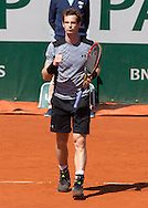 Andy Murray (GBR) macht die Faust und jubelt,Jubel,Emotion,<br /> <br /> Tennis - French Open 2015 - Grand Slam ITF / ATP / WTA -  Roland Garros - Paris -  - France  - 1 June 2015.