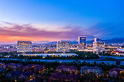 Sunset Over Irvine Spectrum Skyline and Neighborhood Area