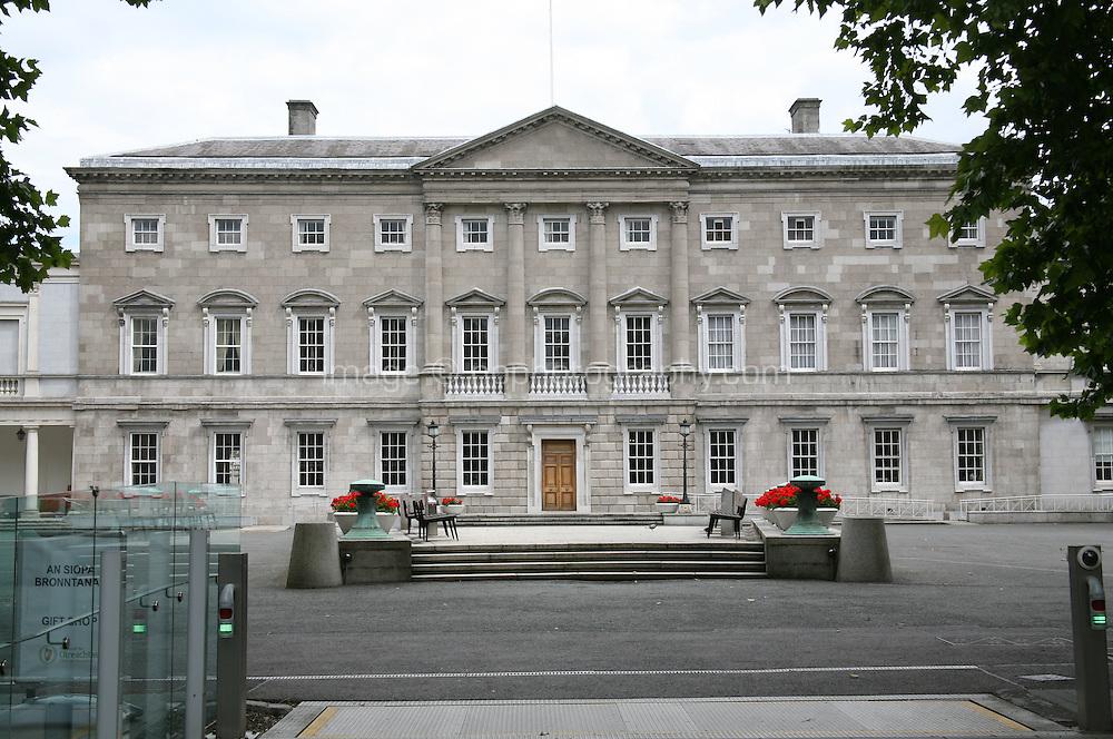 Dail Eireann Irish Government buildings on Kildare Street in Dublin Ireland