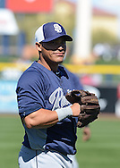 PEORIA, AZ - FEBRUARY 24:  Everth Cabrera #2 of the San Diego Padres warms up prior to the spring training game against the Seattle Mariners at Peoria Sports Complex on February 24, 2013 in Peoria, Arizona.  (Photo by Jennifer Stewart/Getty Images) *** Local Caption *** Everth Cabrera