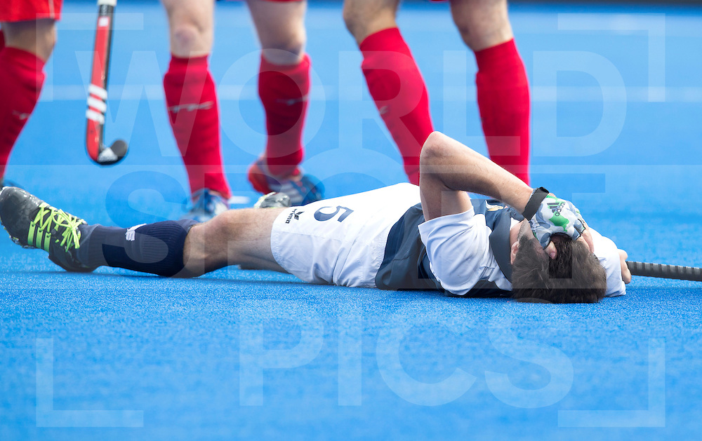LONDON -  Unibet Eurohockey Championships 2015 in  London.  Russia v France. Jean-Laurent Kieffer missed a big chance .  WSP Copyright  KOEN SUYK