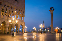 Doge's Palace (Palazzo Ducale) / St. Mark's Square at Dawn, Venice, Italy