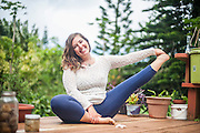 Sabrina Harmony Sims at Mystic Gardens Permaculture Center on Maui, Hawaii. Yoga Photography