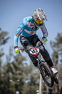 #143 (TORRES Exequiel) ARG at round 8 of the 2018 UCI BMX Supercross World Cup in Santiago del Estero, Argentina.