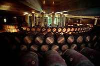 1989, Pauillac, France --- Wine Cellar of Chateau Lafite Rothschild --- Image by © Owen Franken/CORBIS