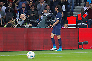 Edinson Roberto Paulo Cavani Gomez (psg) (El Matador) (El Botija) (Florestan) scored a new goal and celebrated it during the French Championship Ligue 1 football match between Paris Saint-Germain and EA Guingamp on April 9, 2017 at Parc des Princes stadium in Paris, France - Photo Stephane Allaman / ProSportsImages / DPPI