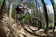 Grady James competes in Stage 3 of the Keystone Big Mountain Enduro in Keystone, CO. ©Brett Wilhelm