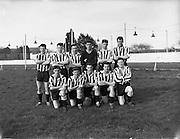 27/03/1960<br /> 03/27/1960<br /> 27 March 1960<br /> Soccer, League of Ireland: Limerick v Transport at Harold's Cross, Dublin. The Transport team.