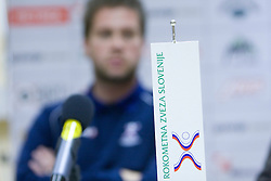 Head coach Primoz Pori at  press conference of Handball women national team of Slovenia before prequalification tournament (for World Championship China 2009) in Montenegro from 25th till 30th November 2008, on November 31, 2008, in RZS, Ljubljana, Slovenia. (Photo by Vid Ponikvar / Sportida)