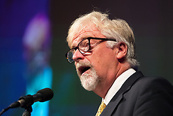 © Licensed to London News Pictures . 29/09/2017 . Torquay , UK . Interim Leader STEVE CROWTHER speaks at the conference . UKIP is due to announce the winner of a leadership election which has the potential to split the party . Photo credit: Joel Goodman/LNP