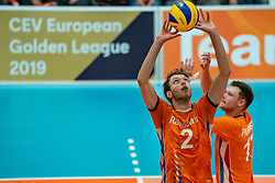 09-06-2019 NED: Golden League Netherlands - Spain, Koog aan de Zaan<br /> Fourth match poule B - The Dutch beat Spain again in five sets in the European Golden League / Wessel Keemink #2 of Netherlands
