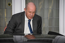 "© Licensed to London News Pictures. 05/12/2017. London, UK. First Secretary of State DAMIAN GREEN seen leaving his London home on December 5, 2017. The findings of an inquiry in to the conduct of MP Damian Green are due to be released, following allegations that ""extreme"" pornography was found on his computer during a police raid in 2018. Green was already under investigation for allegedly propositioning former Tory activist, Kate Maltby. Photo credit: Ben Cawthra/LNP"