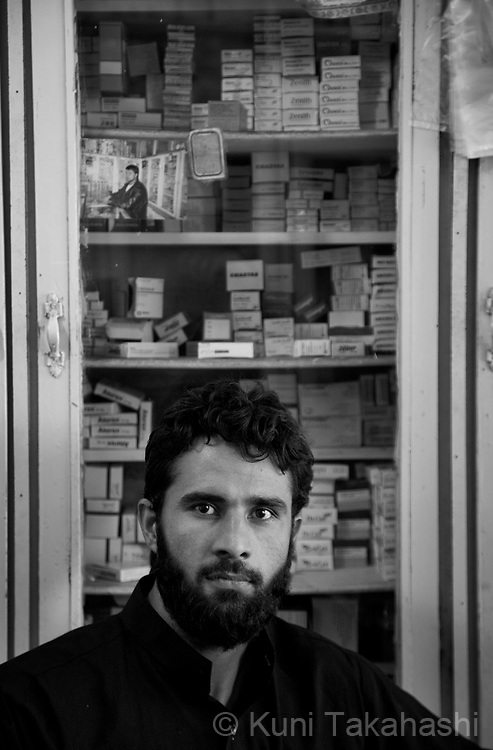 Shah Mahmood, 29, pharmacist, in Kabul, Afghanistan on Aug 14, 2011.(Photo by Kuni Takahashi)