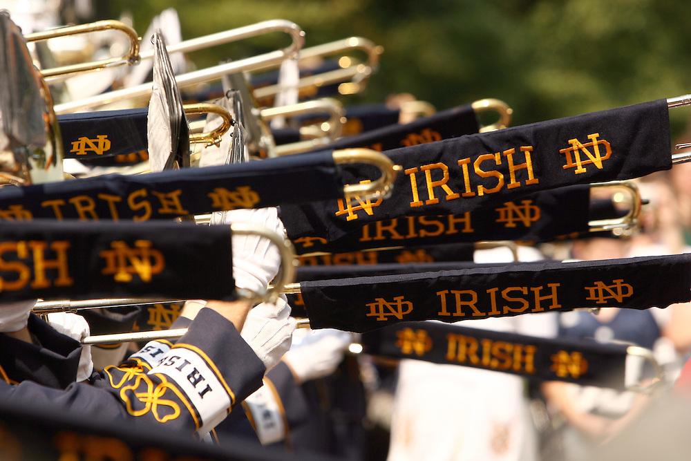 Notre Dame Marching Band concert..Photo by Matt Cashore