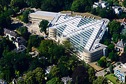 Nederland, Noord-Holland, Gooise Meren, 29-06-2018; Voormalige AKN gebouw, nu 'M' - radio studio's voor de omroep.<br /> <br /> aerial photo (additional fee required);<br /> copyright foto/photo Siebe Swart