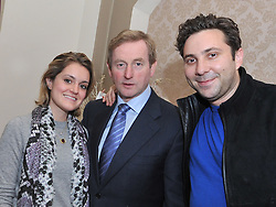 U.S. Entrepeneurs Nicole Weiler and Jay Bregman from Hailo meeting with An Taoiseach Enda Kenny at the Mayo.ie Date & Drones Conference at Breaffy House Hotel on friday last.<br /> Pic Conor McKeown