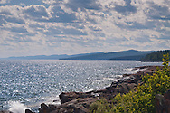 Lake Superior shoreline showing Sawtooth Mountains at Grand Marais Minnesota.