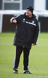 © London News Pictures. 28/01/2014. London, UK. Manager SAM ALLARDYCE during West Ham United training at their training ground in Chadwell Heath, East London ahead of their premiership game away to Chelsea on tomorrow night (29/01/2014). Photo credit: Ben Cawthra/LNP