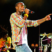Columbia, MD - August 7th, 2010:  Atlanta rapper and producer B.o.B. (real name Bobby Ray Simmons) performs at the Summer Spirit Festival. His debut album, B.o.B Presents: The Adventures of Bobby Ray, is currently the sixth best selling hip-hop album of 2010.  (Photo by Kyle Gustafson/For The Washington Post)
