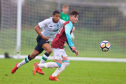 LONDON, ENGLAND - Saturday, November 4, 2017: West Ham United's Dan Chesters during the Under-18 Premier League Cup Group D match between West Ham United FC and Liverpool FC at Little Heath. (Pic by David Rawcliffe/Propaganda)