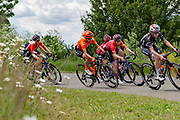 Marianne Vos (NED) riding for CCC-Liv (middle) during Stage 2 of the OVO Energy Women's Tour 2019 at Cyclopark, Gravesend, United Kingdom on 11 June 2019.