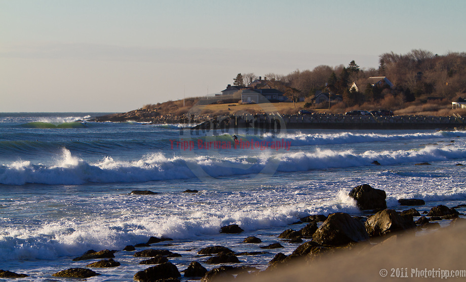 Sunrise Swell, Southern Rhode Island, 40's in the forground with Monahans in the background.